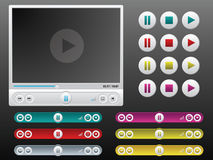 Media player in stock illustration