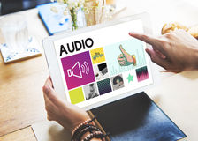 Media Player Audio Entertainment Streaming Concept Stock Photography