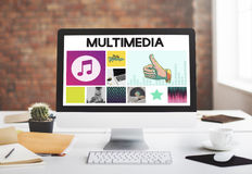 Media Player Audio Entertainment Streaming Concept Stock Photos