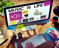 Media Player Audio Entertainment Streaming Concept Stock Images