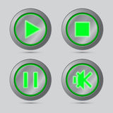 Media player button Royalty Free Stock Photo