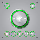 Media player button Royalty Free Stock Photography