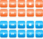 Media player button set Stock Photos