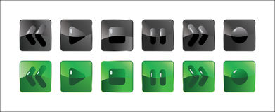 Media-player button Stock Photography