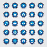 Media Player Button vector illustration