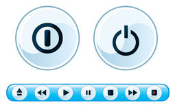 Media player buttons Royalty Free Stock Photography