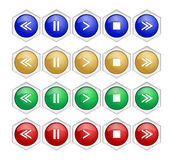 Media player buttons collection Royalty Free Stock Photo