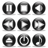 Media Player Buttons Stock Photo