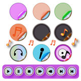 Media player buttons collection - Illustration Stock Photography