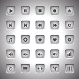 Media player buttons collection vector design elements Royalty Free Stock Photos