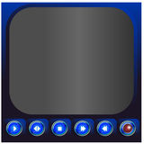 Media player buttons  - Illustration Stock Photos