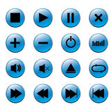 Media Player Buttons. Player Buttons play, stop, power, pause Stock Image