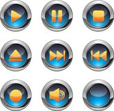 Media player buttons Royalty Free Stock Image