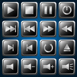 Media player buttons Royalty Free Stock Images