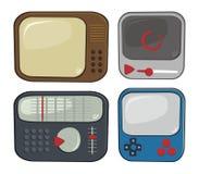 Media player cartoon set Stock Photos