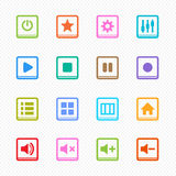 Media Player Color line icon on white background - Vector illustration Stock Photo