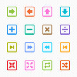 Media Player Color line symbol and icon on white background - Vector illustration Stock Photography