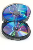 Media player with compact disk Royalty Free Stock Photo