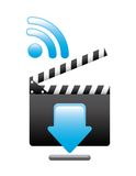 media player design Royalty Free Stock Images