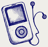 Media player. Doodle style. Vector Stock Photo