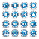 media player glossy buttons Stock Images