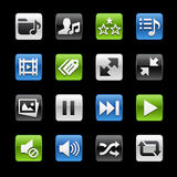 Media Player Glossy Buttons  Royalty Free Stock Photos