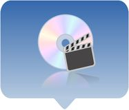 Media player icon. 3d media player icon - computer generated clip-art Stock Photography