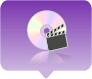 Media player icon. 3d media player icon - computer generated clip-art Stock Photos