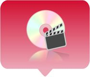 Media player icon. 3d media player icon - computer generated clip-art Stock Image