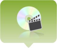 Media player icon. 3d media player icon - computer generated clip-art Stock Images