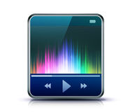 Media player icon Stock Photography