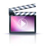 Media player icon. Vector illustrator of media player icon Stock Image