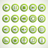 Media player icon Royalty Free Stock Images