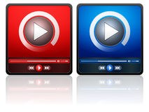 Media player icon Royalty Free Stock Image