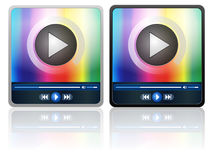 Media player icon Stock Images