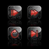 Media player icon set Stock Photography