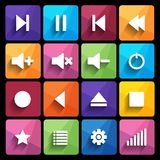 Media player icon. Vector illustration. Royalty Free Stock Photo