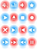 Media player icons Royalty Free Stock Image