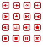 Media player icons Stock Photos