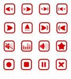 Media player icons Stock Photos