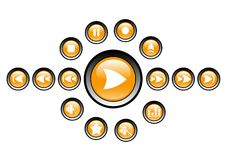 Media player icons Stock Photography