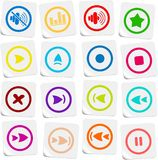 Media player icons Stock Image