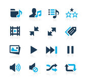Media Player Icons Azure Series Royalty Free Stock Images