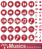 Media player icons , buttons Royalty Free Stock Photos
