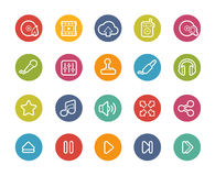 Media Player Icons -- Printemps Series Royalty Free Stock Photos