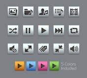 Media Player Icons -- Satinbox Series Stock Photography