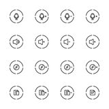 Media Player Icons Set , Line Icon. Royalty Free Stock Photography