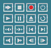 Media player icons Stock Images