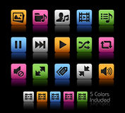 Media Player Icons  Royalty Free Stock Photography