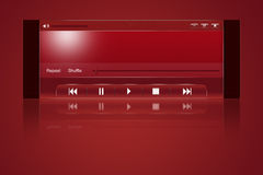 Media player interface. Media player design, abstract illustration vector illustration